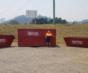 A photo of the different sizes of skip bings we offer for hire in Byron Bay, Ballina and Casino